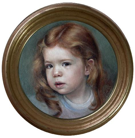 portrait in oil child